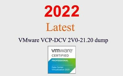 VMWARE VCP-DCV 2V0-21-20 dump latest questions 1 month update