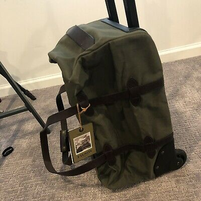 New Filson Rolling Duffle 20 Carry On Suitecase Durable Heavy Duty 495