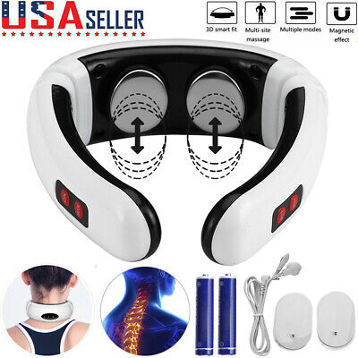 Electric Body Cervical Neck Pulse Massager Muscle Shoulder Relax Relieve Pain