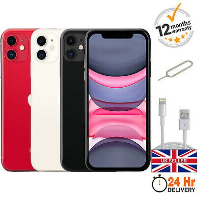 Apple iPhone 11 64GB 128GB 256GB Unlocked Smartphone A2221 All Colours Grade