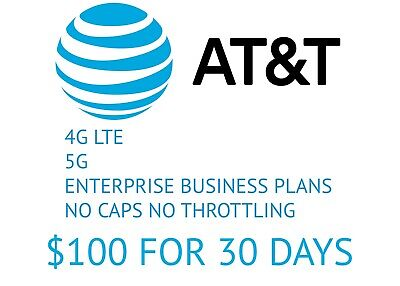 Business Enterprise Unlimited Data Plan Rental AT-T Sim Card 4G LTE 5G Hotspot