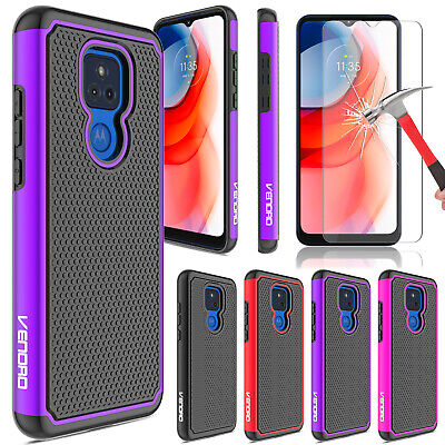 For Motorola Moto G Play 2021 Case Shockproof Rugged TPU CoverScreen Protector