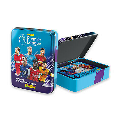 Panini 2020-21 English Premier League Soccer Collector Tin - 10 Pack 50 Stickers