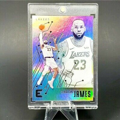 Lebron James SILVER FOIL LAKERS CARD - MINT - INVESTMENT