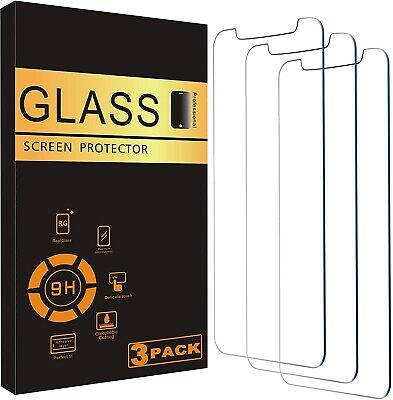 For iPhone 12 11 Pro Max XR X XS Max 8 7 Tempered GLASS Screen Protector 3-PACK
