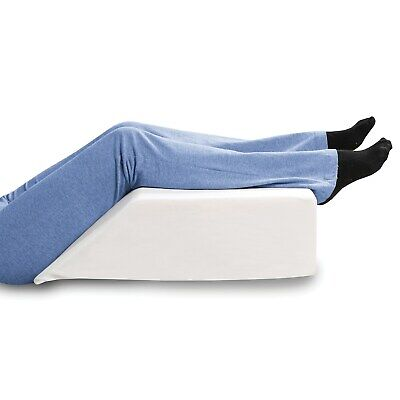 Support Plus Elevated Leg Wedge Pillow Memory Foam w Removable Washable Cover