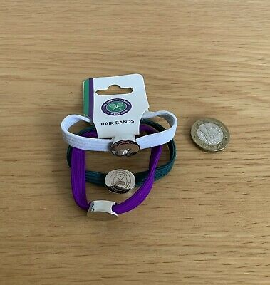 Genuine Wimbledon The Championships Tennis Ponytail Holders Hair Bands New