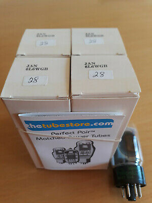 6L6WGB JAN Philips NOS Tube for Marshall Audio Note P2