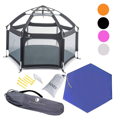 Pop N Go Foldable Portable Baby Kid Playpen Pet Canopy Tent Crib With Mattress
