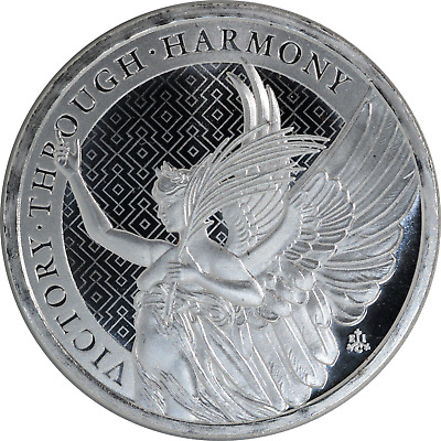1 oz Silver Coin St. Helena 2021 Queen's Virtues Victory Through Harmony .999 BU