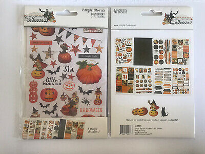 Simple Stories A Simple Vintage Halloween 4x6 Stickers 8 Sheets New