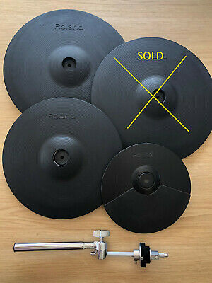ROLAND CYMBALES CY-15 R, CY-13 R, CY-5 + SUPPORT