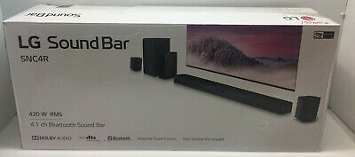 LG SNC4R 4-1 Channel Bluetooth Sound Bar with Rear Surround Speakers