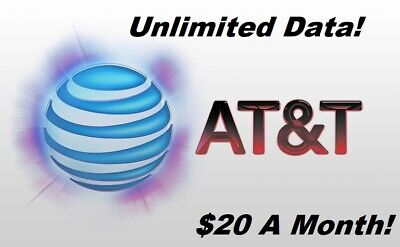 UNLIMITED DATA AT-T PLAN - 20  MONTH