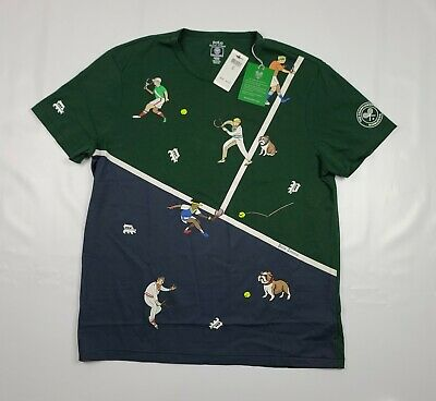 Polo Ralph Lauren Mens XL Wimbledon Animated Graphic The Championships-