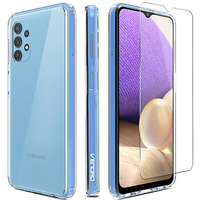 For Samsung Galaxy A32 5G Case Crystal Clear TPU CoverHD Glass Screen Protector
