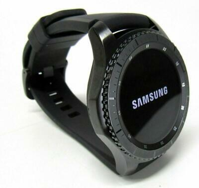 Samsung Gear S3 Frontier 46mm Stainless Steel SM-R760 Space Gray - Black Band