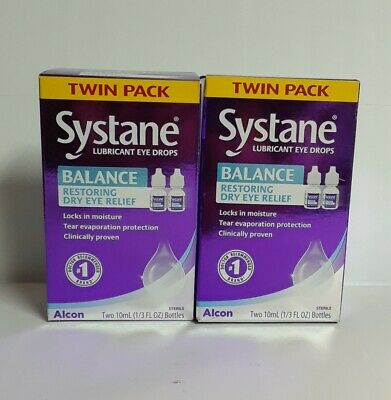 twin 2packs Systane Balance Dry Eye Relief Lubricant Drops 13 Oz-Exp0622 074