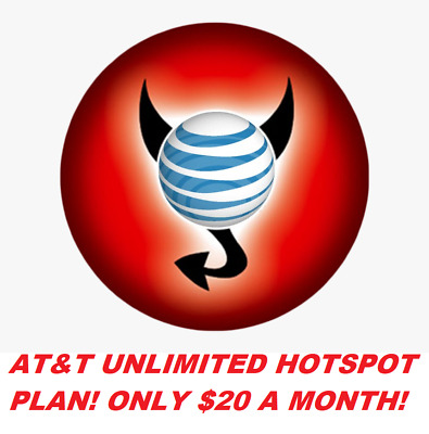 AT-T UNLIMITED 4G LTE HOTSPOT- 20 A MONTH
