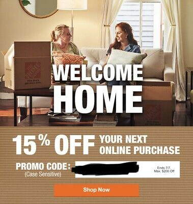 Home Depot 15 Off Coupon Online Purchase Expires 77 Save up to 200