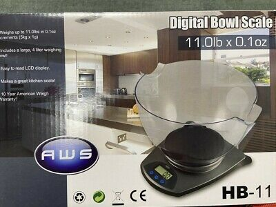 American Weigh HB11 Bowl Scale 11lbs- Black