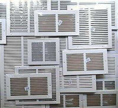 New AIR GRILLE Metal CHOOSE SIZE WallCeilingFloor HVAC RETURN VENT Cover WHITE