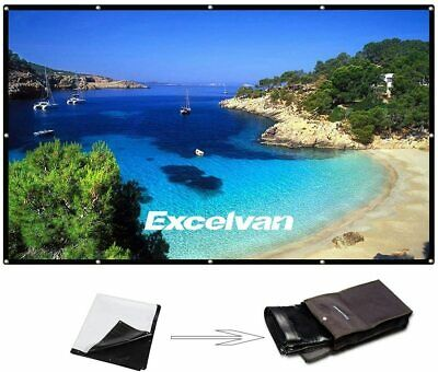 EXC Projector Screen High Contrast Collapsible PVC Front 120 Inch  169