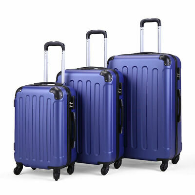 3 Pieces Luggage Set Durable Travel Suitcase with Spinner Wheels 20 24 28