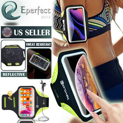 For iPhone 12 Pro Max 11 Sports Running Armband Gym Jogging Pouch Phone Holder