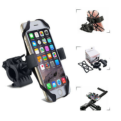 360° MTB Mount Bike Silicone Holder Motorcycle Bicycle For Cell Phone GPS