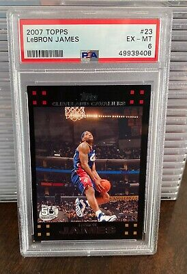 2007-08 Topps 50th Anniversary 23 Lebron James PSA 6 Cleveland Cavaliers Lakers