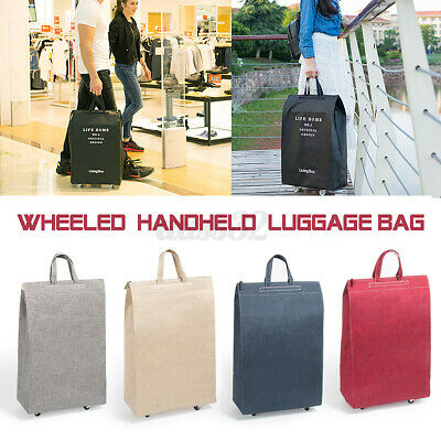 Wheeled Duffle Bag Light Weight Trolley Travel Suitcase Carry On Luggag