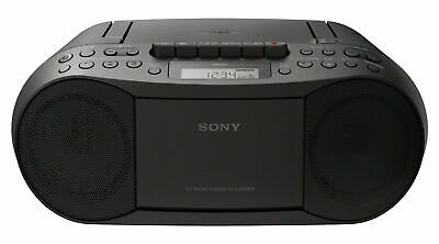 Sony CFD-S70 Boombox CD Player Radio Stereo Cassette CD - Black