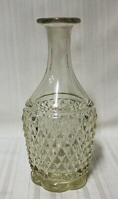 Antique Sawtooth Glass Decanter with Scalloped Base