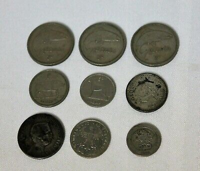 Mixed Lot of 9 Old Coins