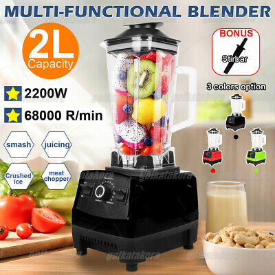 Professional Blender with 2200w Base Built-in Timer Self-Cleaning Color options