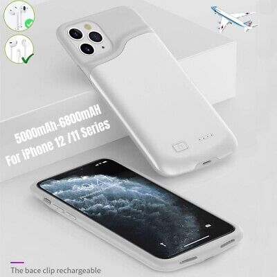 6800mAh Battery Charger Case For iPhone 11 12 Pro Max Power Bank Charging Cover