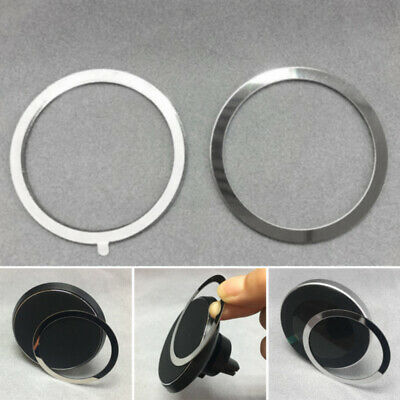 4PC Metal Ring for Magnetic Qi Wireless Charger Magnet Air Vent Car Mount Holder