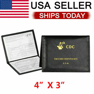 Vaccination Card Protector 4x3 Protect CDC Vaccine Card Holder New Wallet US