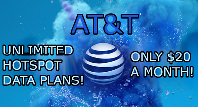 UNLIMITED DATA AT-T PLAN HOTSPOT - 20  MONTH Your Own Account