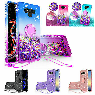 For Samsung Galaxy Note 201098S21S20S9A12 Liquid Glitter Bling Case Cover