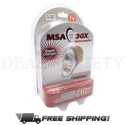 MSA 30X Discreet Sound Amplifier Rapid Charging Hearing Aid Rechargable