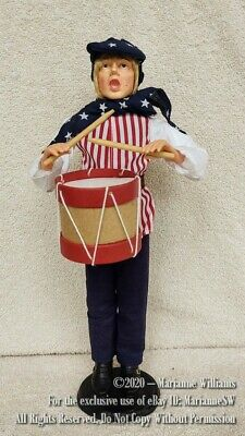 NEW Fourth 4th Of July AMERICAN Patriotic RED WHITE BLUE DRUMMER