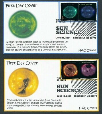 Sun Science - 2021 FDC - set of 5 covers - SC 5598 - 5607