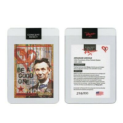 ABRAHAM LINCOLN President Pop Art DIAMOND DUST Trading Card by Rency SN of 300