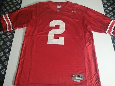 Ohio State Buckeyes 2 Authentic Nike College Football Jersey Mens XL Red