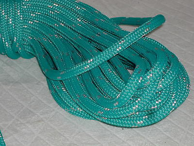 Double Braid Polyester line 716x150 ft yacht teal greenwhite tracer halyard