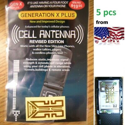 5X Cell antenna Booster generation X plus REVISED GOLD edit Xplus phone mobile