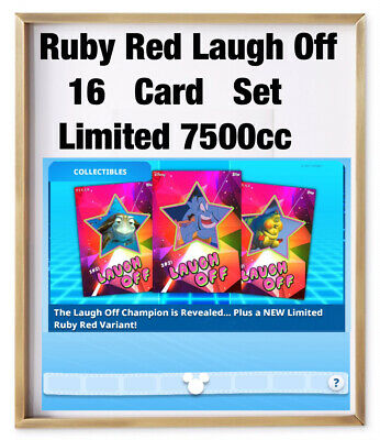RUBY RED LAUGH OFF-16 CARD SET-LIMITED 7500cc-GOLD MOTION-TOPPS DISNEY COLLECT