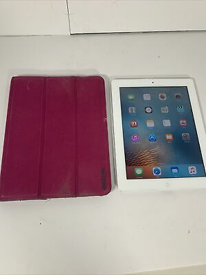 Apple iPad 2 A1395 16GB Silver Touchscreen Tablet With Case - FREE SHIPPING